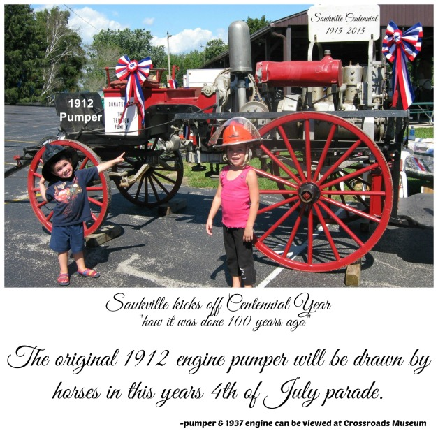 The original 1912 engine pumper will be drawn by horses in this years 4th of July parade